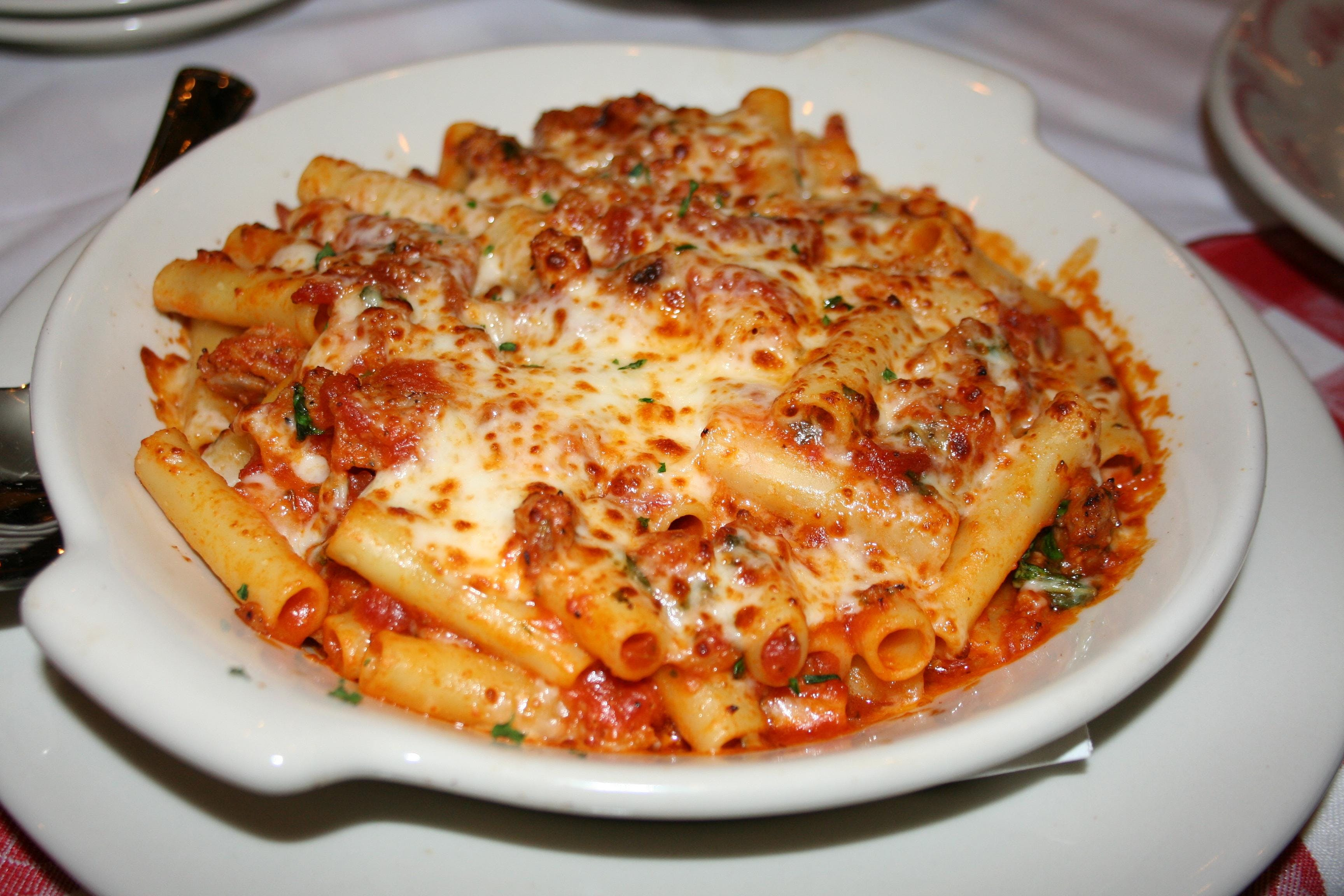 Photo of a sample lunch meal at Maggiano's